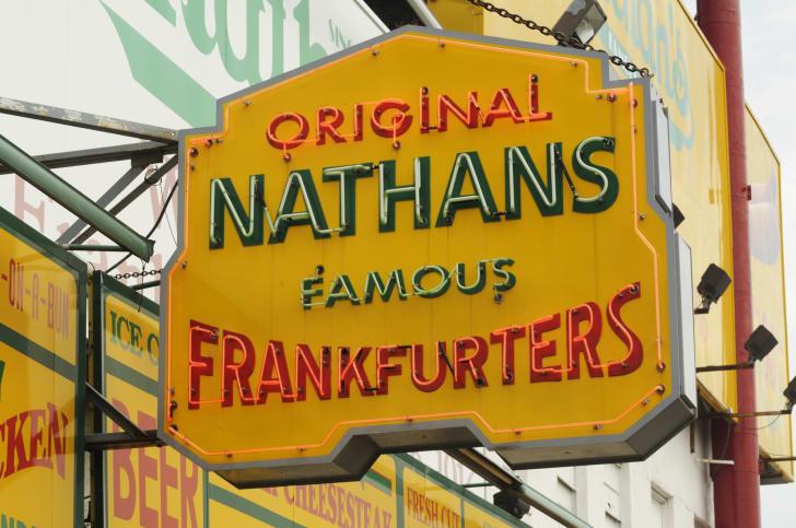 Image of Original Nathan's Famous Frankfurters sign