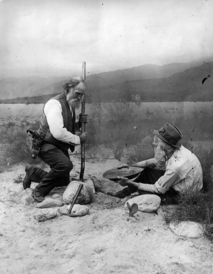 prospectors panning for gold in California