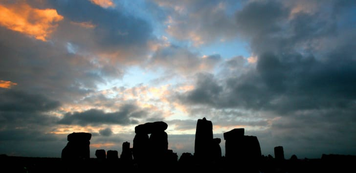 Stonehenge at sunrise.