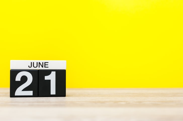 June 21 date against a yellow background