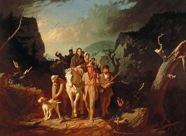 Daniel Boone escorting settlers