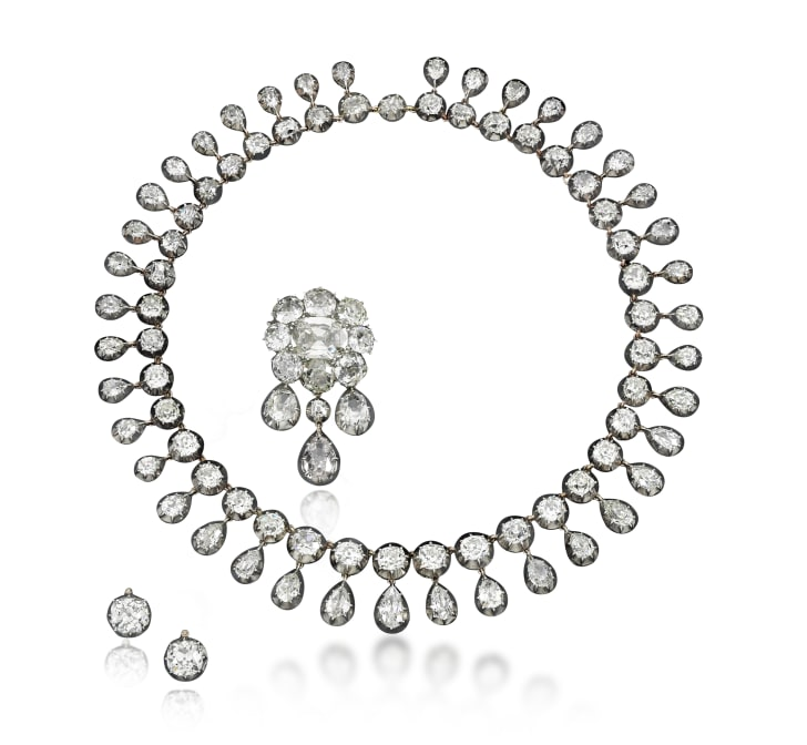 A diamond jewelry set