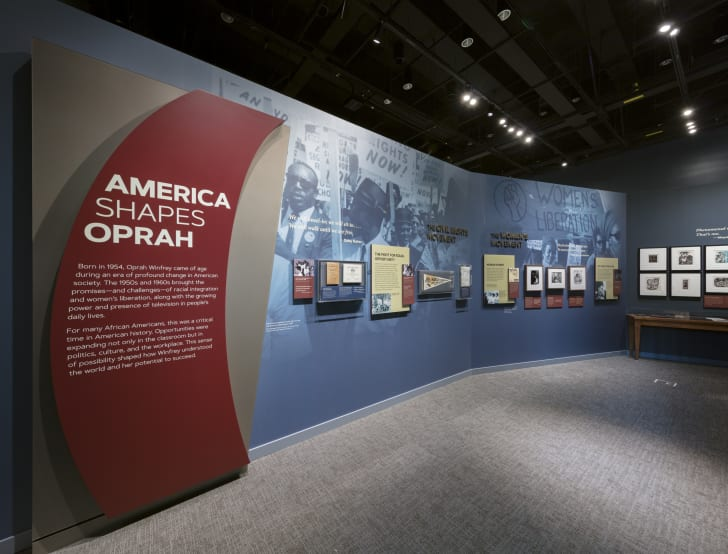 Oprah exhibit at the National Museum of African American History and Culture.