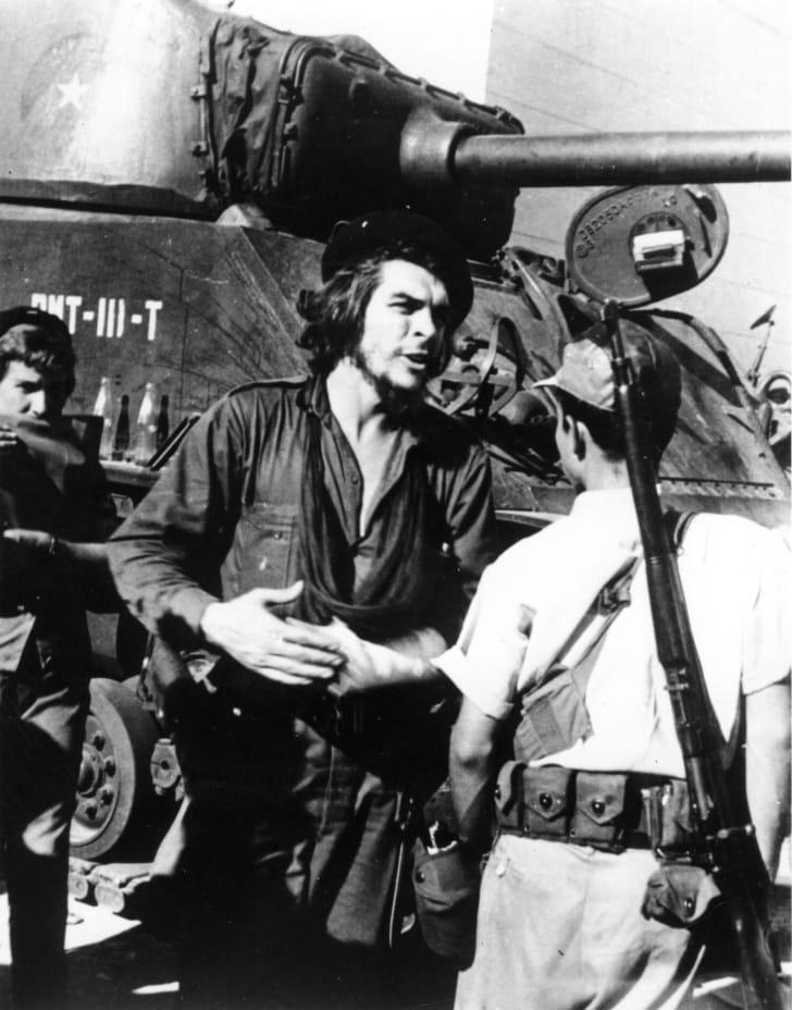 Che Guevara during the battle of Santa Clara