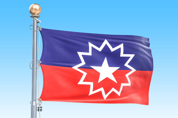 a mock-up of the Juneteenth flag