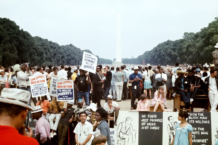 Scene from the Poor People's March in Washington, D.C. on June 19, 1968.