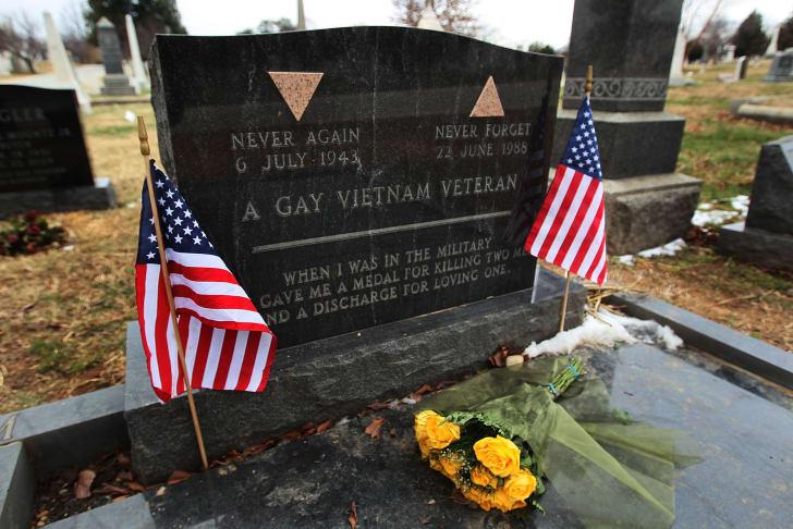 Grave of Vietnam veteran Leonard Matlovich.