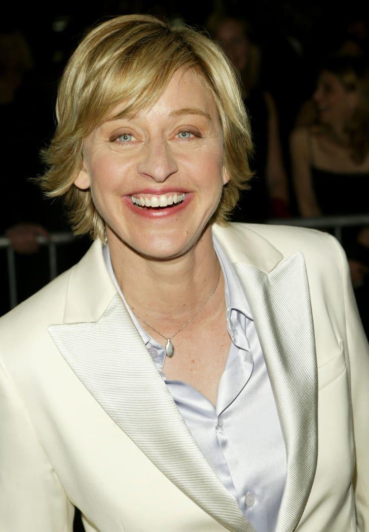 Ellen DeGeneres arrives at the daytime Emmys in 2004.