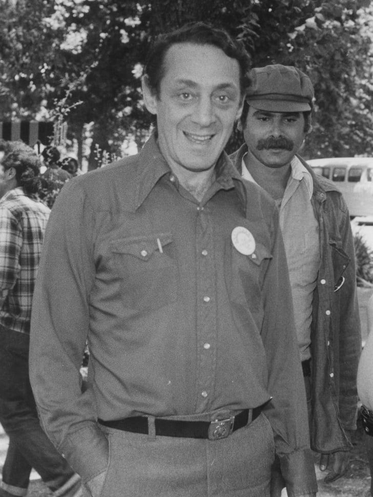 Harvey Milk attends a Pride event in San Jose in 1978.