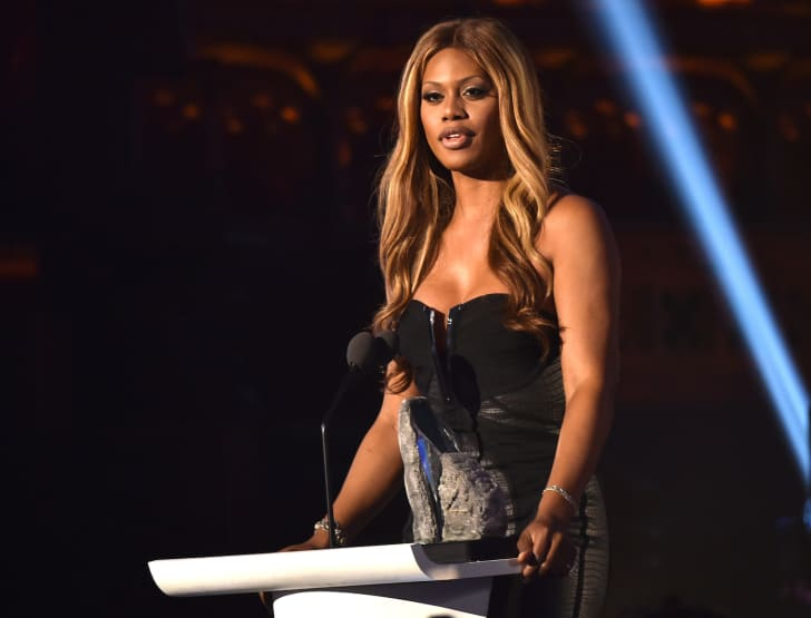 Laverne Cox speaks at an event.