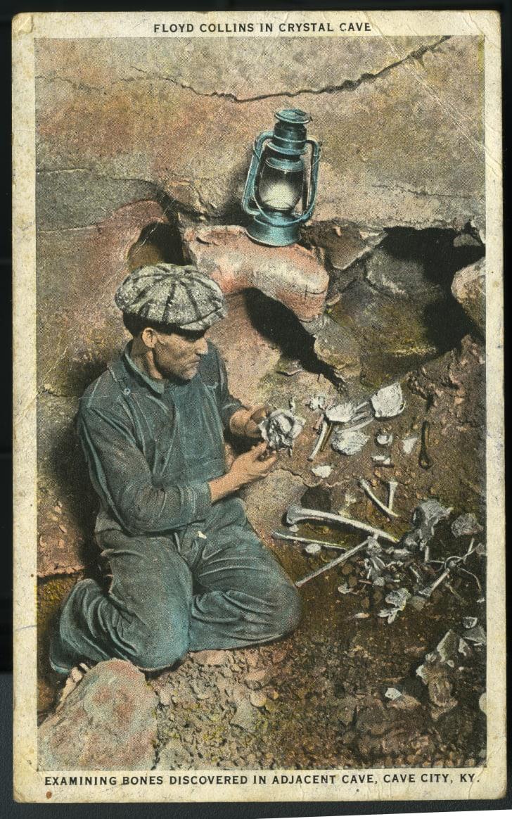 Floyd Collins with bones