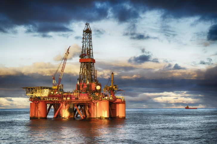 An offshore drilling platform