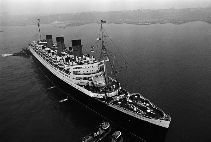 The Queen Mary ocean liner