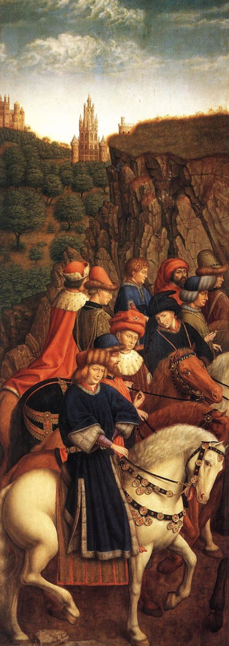 The Just Judges panel of The Ghent Altarpiece