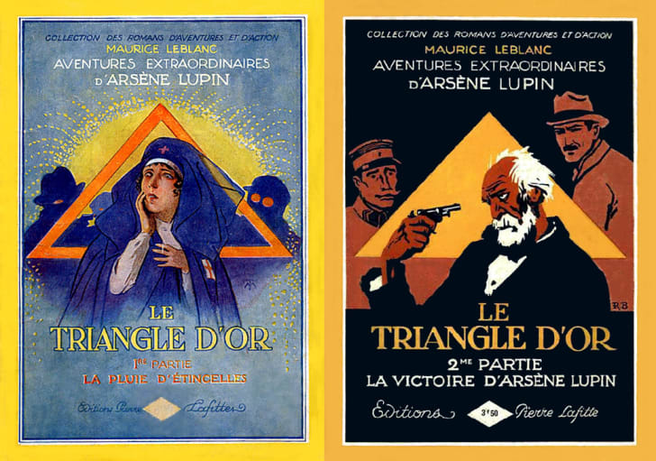 Illustrations from Le Triangle d'Or by Maurice Leblanc