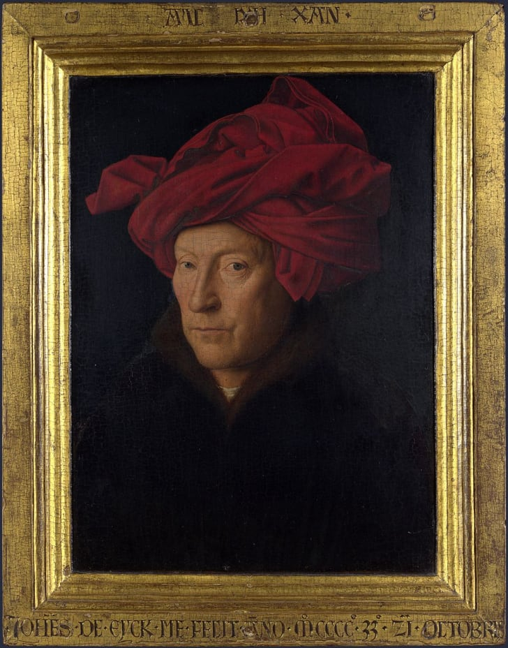 """""""Portrait of a Man (Self Portrait?)"""" by Jan van Eyck"""