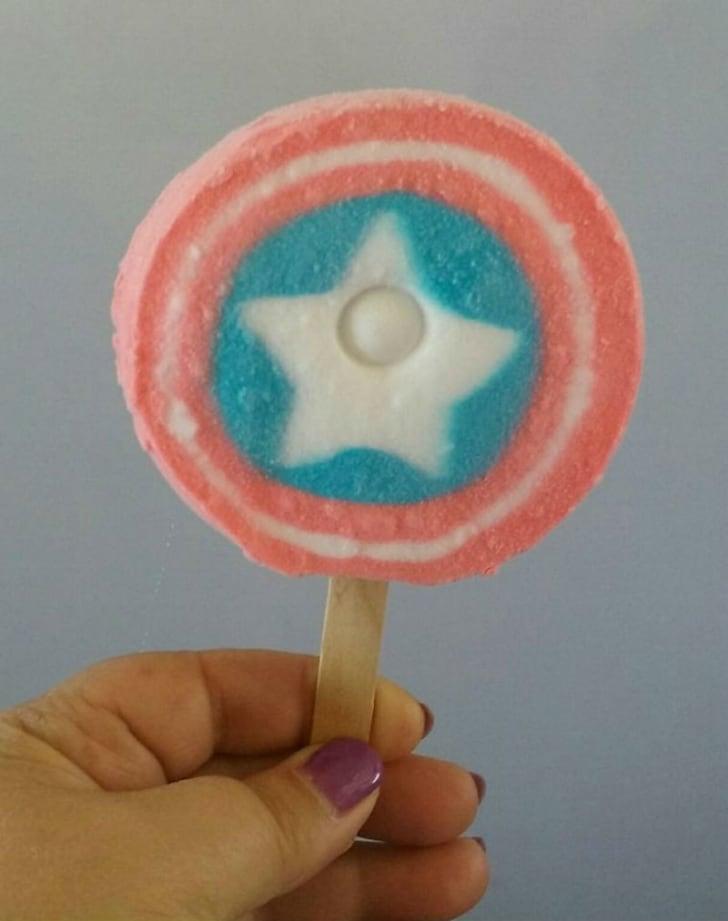 A Captain America ice cream treat