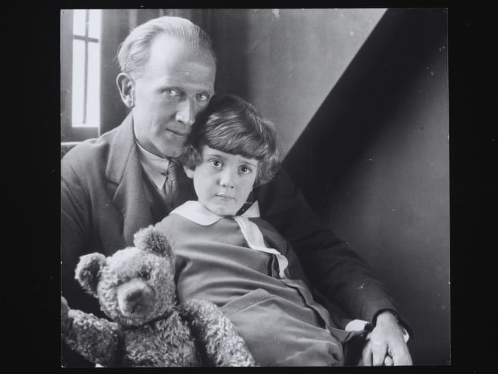 A. A. Milne with his son, Christopher Robin