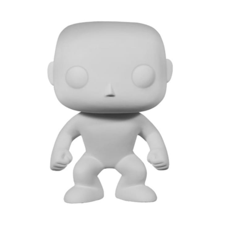 A blank Funko Pop! figure is pictured