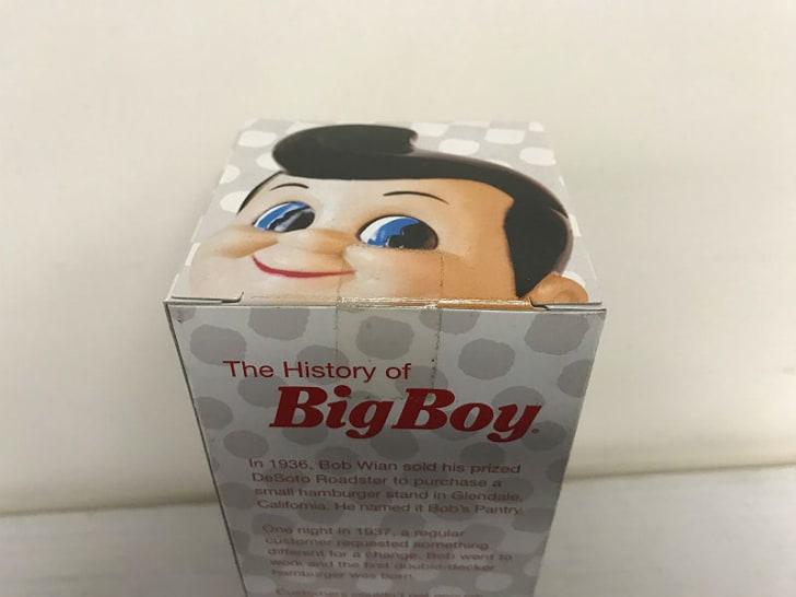 A Bob's Big Boy bobblehead package
