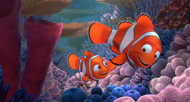 Albert Brooks and Alexander Gould in 'Finding Nemo' (2003)