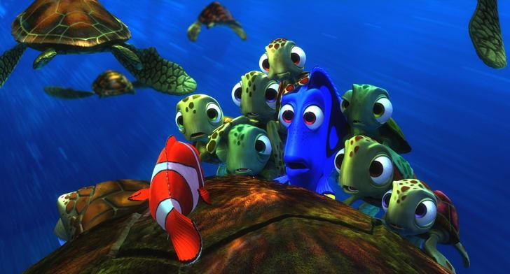 Albert Brooks, Ellen DeGeneres, and Nicholas Bird in 'Finding Nemo' (2003)