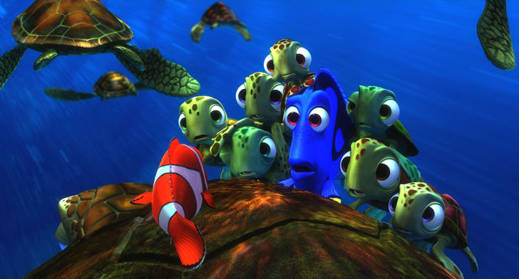 Albert Brooks, Ellen DeGeneres, and Nicholas Bird in 'Finding Nemo' (2003)