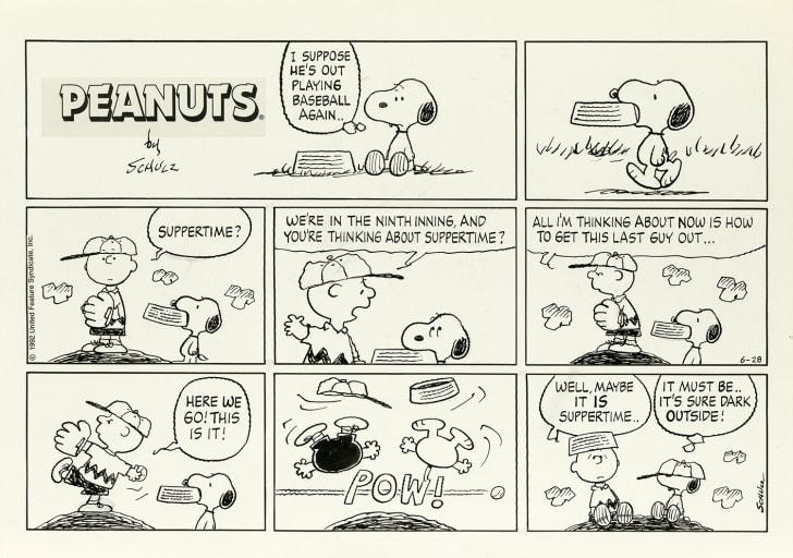 A Peanuts comic strip