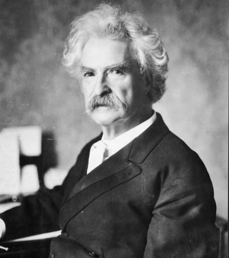 A portrait of writer Mark Twain