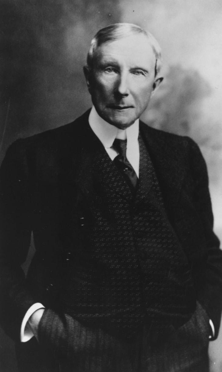 A portrait of John D. Rockefeller