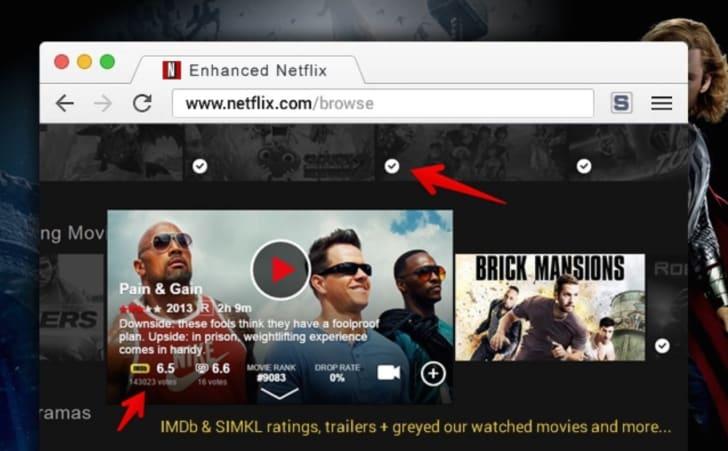 Extension Enhancer for Netflix by simkl