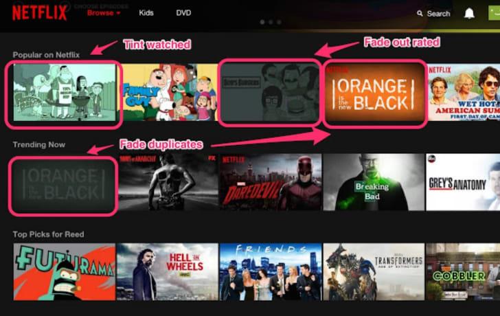 A Flix Plus by Lifehacker screen grab