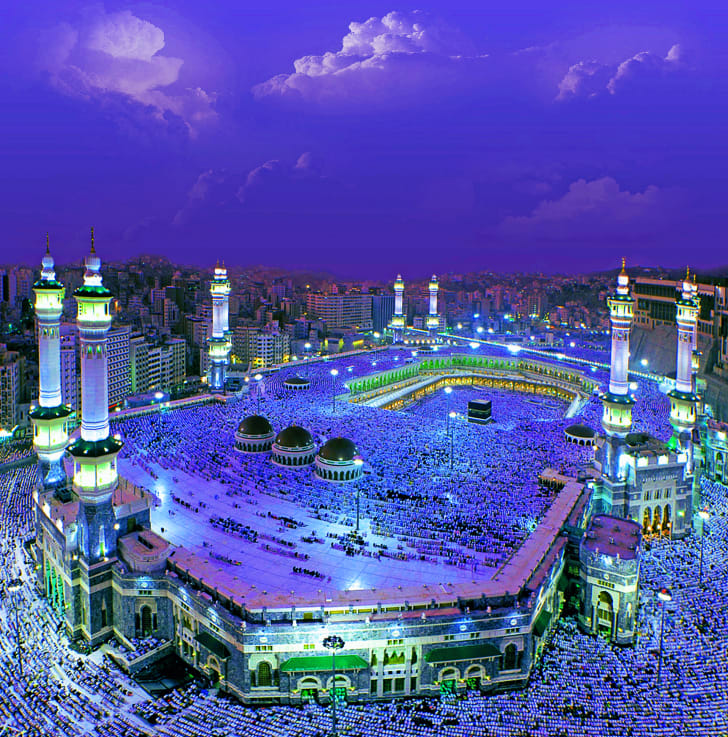 The Kaaba in Mecca, Saudi Arabia.