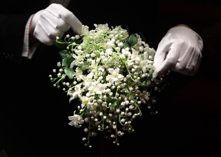 A recreation of the Duchess of Cambridge's wedding bouquet is photographed before it goes on display at Buckingham Palace during the annual summer opening on July 20, 2011 in London, England.