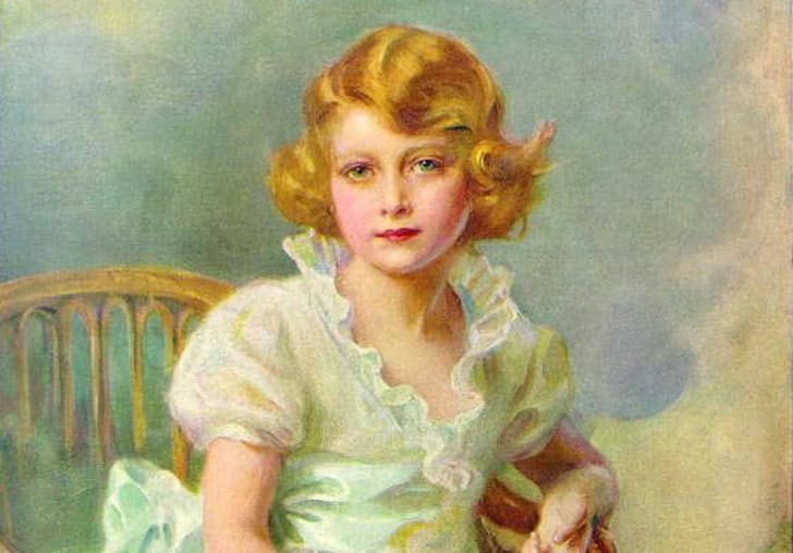 A 1933 painting of Princess Elizabeth