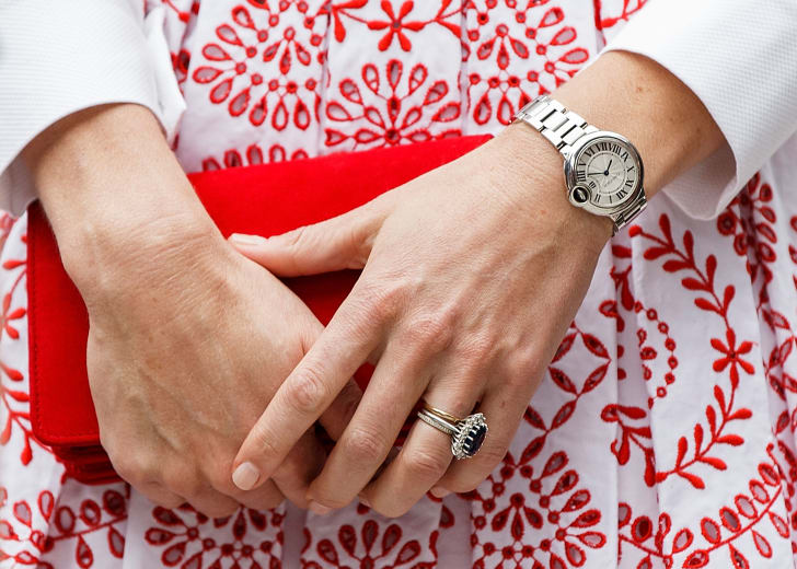 A close-up of Kate Middleton's manicure.