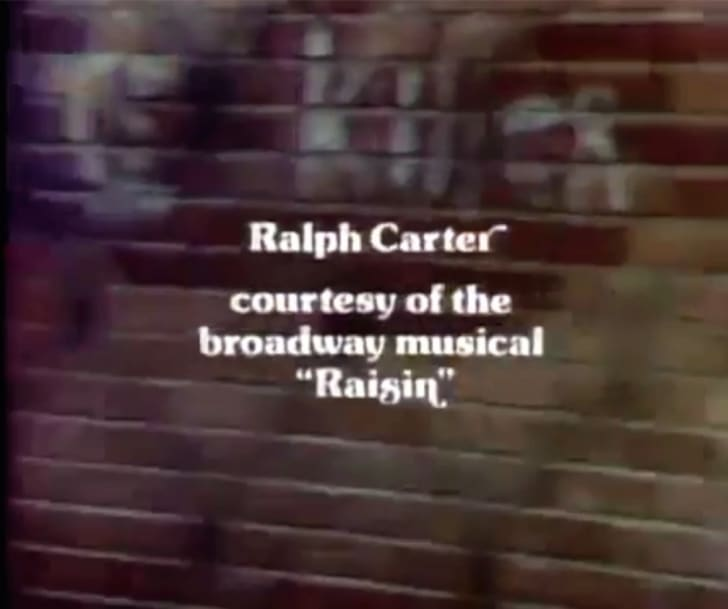 Ralph Carter's credit from 'Good Times'