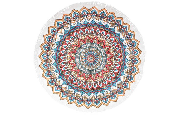 round mandala towel
