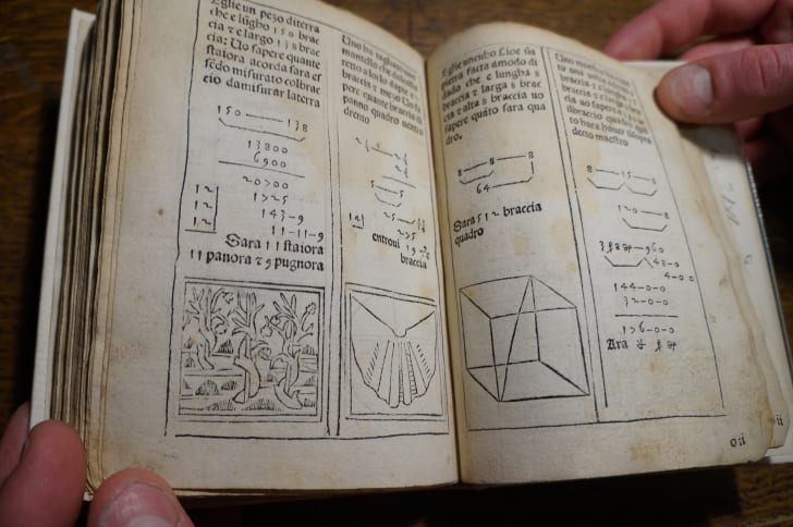 Interior pages of Pictagoras Arithmetrice Introductor
