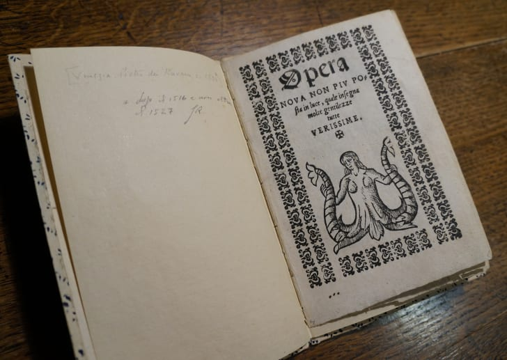 A Venetian pamphlet known as an Opera Nova at the Conjuring Arts Library
