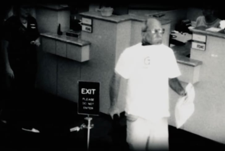 Camera footage of Brian Wells at PNC Bank in Erie, Pennsylvania