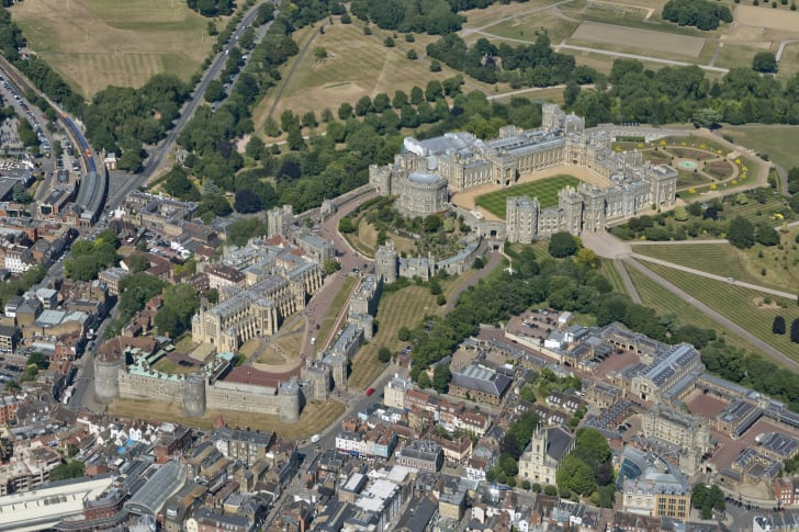 An aerial view of Windsor Castle