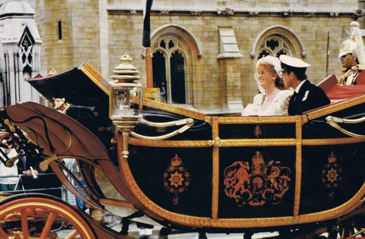 Parade following the marriage of Andrew Mountbatten-Windsor, Duke of York to Sarah Ferguson in London.