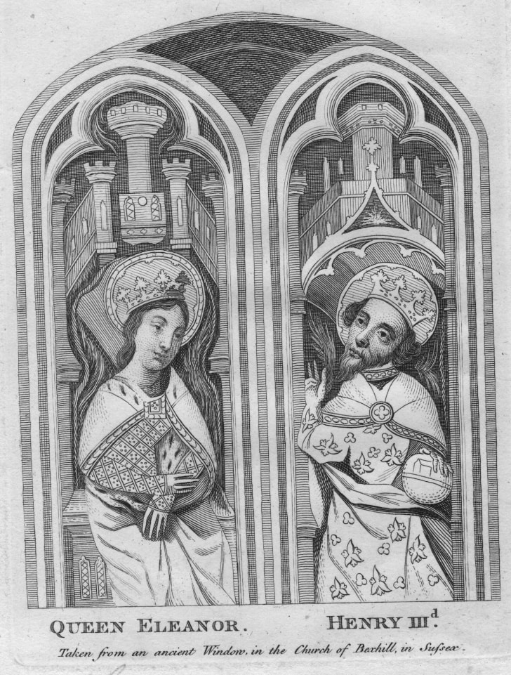 Eleanor of Provence and King Henry III of England.