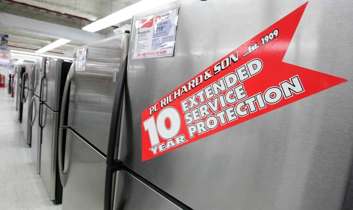 Refrigerators in a P.C. Richard & Son