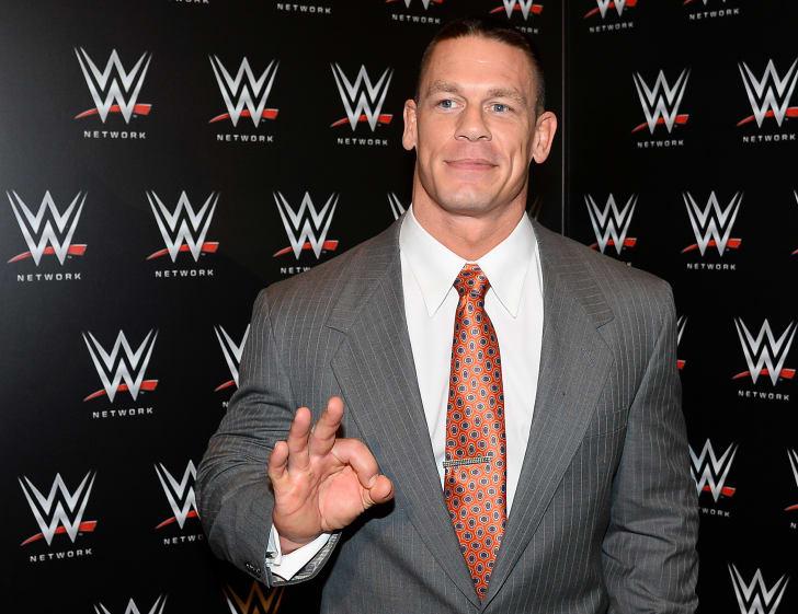 John Cena with WWE background