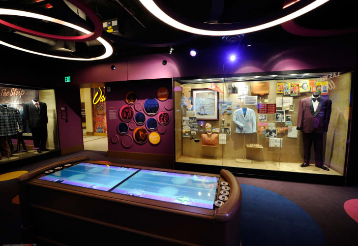 A general view of a Las Vegas-themed room at The Mob Museum