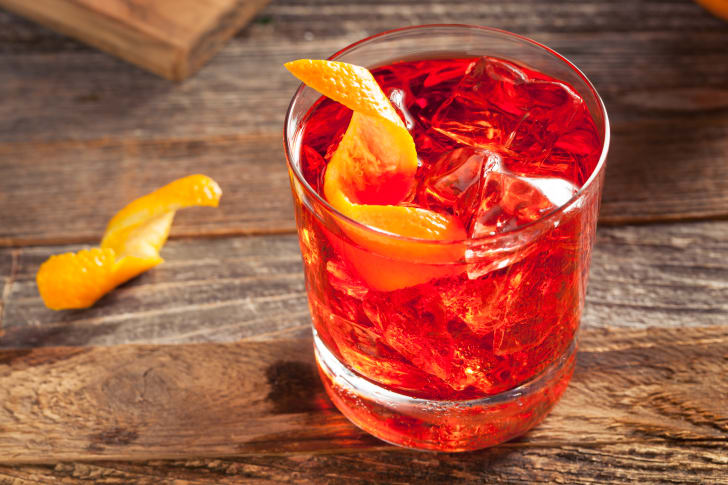Negroni cocktail with an orange twist