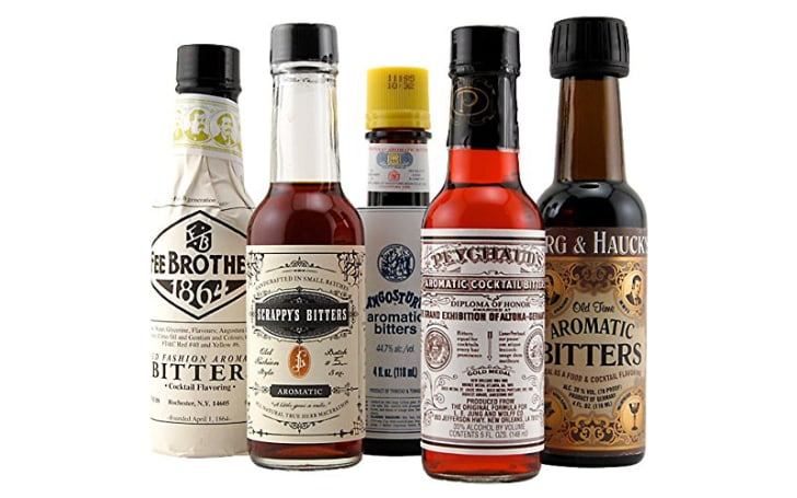 Selection of 5 aromatic bitters