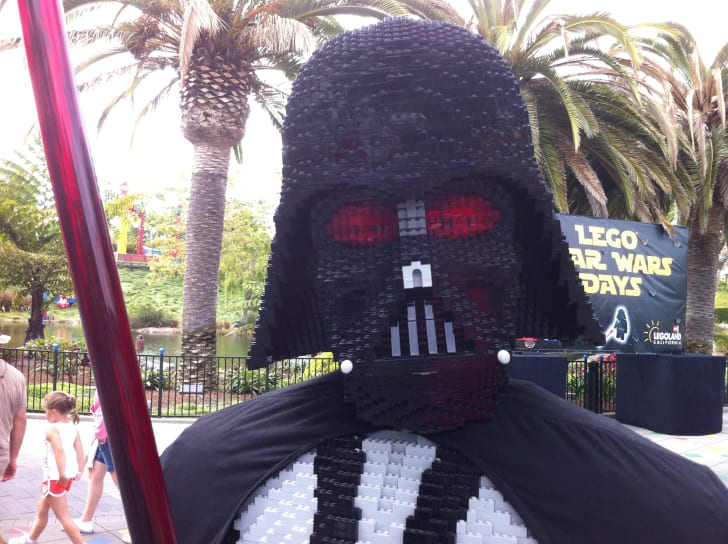LEGO Darth Vader sculpture at LEGOLAND.